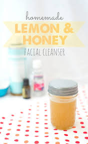 cleanser with lemon honey