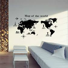 Faroot Large World Map Wall Sticker Removable Vinyl Decal Mural Art Home Office Decor Children S Early Education Products Wall Stickers Aliexpress