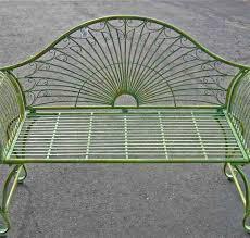 garden bench 37 034 high wrought