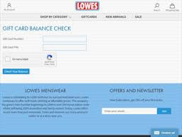 lowes nz gift card balance check