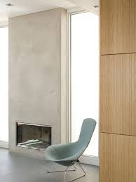 modern stucco fireplace design