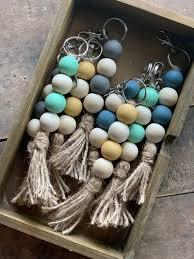 wood beads diy wooden bead garland