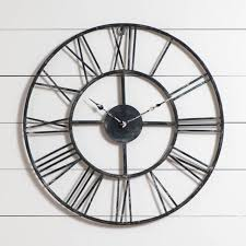 irvin s tinware large rustic wall clock