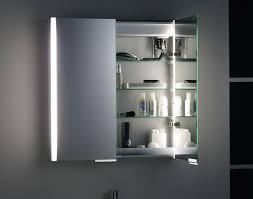 illuminated bathroom mirror cabinet