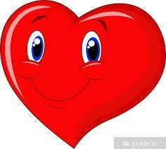 Fotomural De dibujos animados de corazón rojo • Pixers® - Vivimos ...