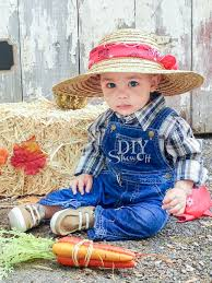 diy baby farmer costumediy show off