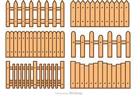 Picket Fence Cartoon Vectors Picket Fence Fence Wood Fence Design