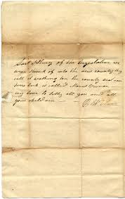 Letter from Polly Wilson McGee to Joshua Lacy Wilson - PICRYL ...