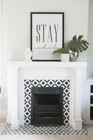 handpainted tile fireplace home