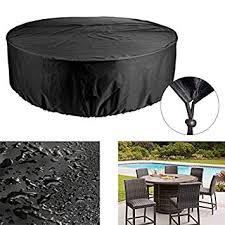 heavy duty canvas round patio table