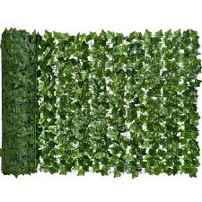 Coolmade Artificial Ivy Privacy Fence Screen 98 4x59in Artificial Hedges Fence And Faux Ivy Vine Leaf Decoration For Outdoor Decor Garden Walmart Com Walmart Com