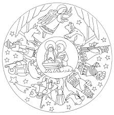 Kerst Mandala Printen En Kleuren Kerstmis Kleuren Mandala