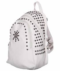 Iva White Backpack - Buy Iva White Backpack Online at Low Price ...