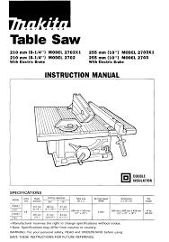 Table Saw Manualzz
