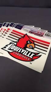 Louisville Cardinals Window Decals
