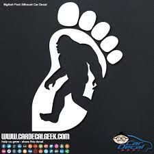 Bigfoot Foot Silhouette Car Window Decal Sticker Graphic