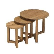 snowden wooden nest of 3 tables round