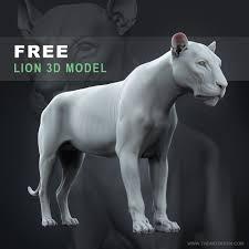 FREE 3D Lion Model