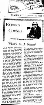 Whats In A Name by Byron Richardson - Newspapers.com