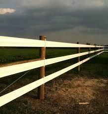 Vinyl Horse Rail Shamrock Farms Fencing