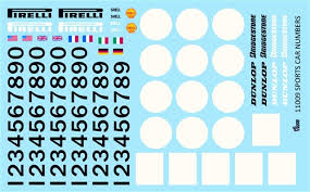 Model Car Decals 1 24 1 25 Scale Decals Gofer Racing Sports Car Numbers Decal Sheet 11009