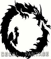 Ouroboros Dragon Circle Vinyl Sticker Decal Pagan Wicca Choose Size Color Ebay