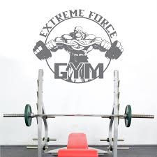 Barbell Weightlifting Fitness Club Decal Gym Sticker Decor Posters Vinyl Wall Decals Decor Mural Car Gym Muscle Sticker Wall Stickers Aliexpress