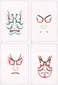 kabuki face paint patterns
