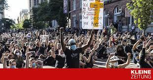 Trump   Proteste nach Floyd-Tod: Unruhen dauern an: Trump droht ...