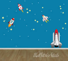 Rockets Wall Decals Rocket Space Wall Decal Stickers Etsy