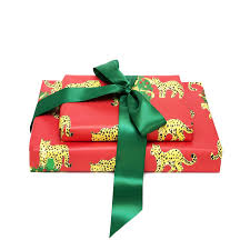 red leopard gift wrap gifts