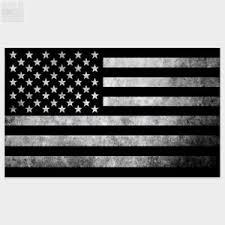 Black And Gray American Flag America Usa Vinyl Decal Car Truck Sticker Patriotic Ebay