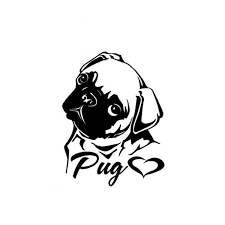 Pug Decal Sticker Dog Decals Dog Window Pug Art