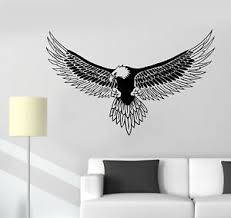 Vinyl Wall Decal American Bald Eagle Bird Feathers Patriot Symbol Sticker 1883ig Ebay