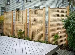 standing lattice fence panels all