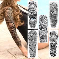 Realistyczne Pelne Ramie Falszywe Tymczasowe Tatuaze 3d Maori Rose