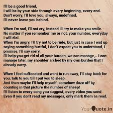i ll be a good friend i quotes writings by word assassin