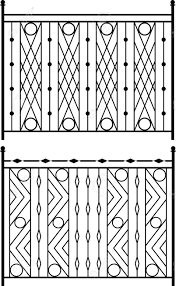 Wrought Iron Gate Door Fence Window Grill Railing Design Royalty Free Cliparts Vectors And Stock Illustration Image 46878522
