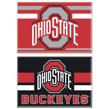 Ohio State Buckeyes Wincraft 2 X 3 2 Pack Magnet Set