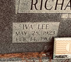 Iva Lee Branham Richardson (1923-1960) - Find A Grave Memorial