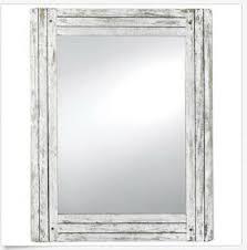 vanity wall mirror weathered white wood