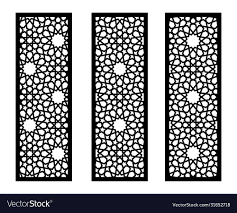 Laser Cut Panel Screen Fence Divider Royalty Free Vector