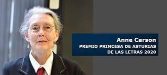 La poeta Anne Carson, Premio Princesa de Asturias de las Letras ...