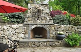 outdoor fireplace design landscaping