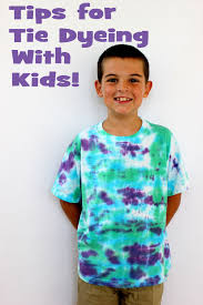 how to tie dye shirts with kids