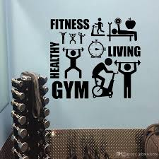 Gymnasium Healthy Wall Art Fitness Room Decoration Gym Sports Wall Decal Fintness Club Vinyl Wall Sticker Gym Wallpaper Wall Sticker Designs Wall Sticker For Kids From Joystickers 15 65 Dhgate Com