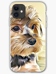 """Cute Yorkshire Terrier Dog"""" iPhone Case & Cover by adriana-holmes 