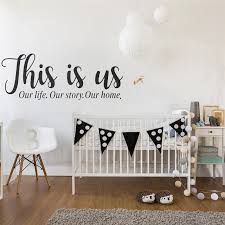 This Is Us Family Wall Decal Our Life Story Home Quote Art Stickers Home Decor Living Room Bedroom Entryway Vinyl Decals Wall Stickers Aliexpress