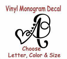 Monogram Car Decal For Sale In Stock Ebay