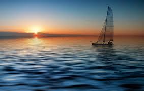 Muhteşem Deniz Manzarası Ve Güneş